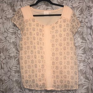 LC Lauren Conrad Textured Dot Tee size X-Large